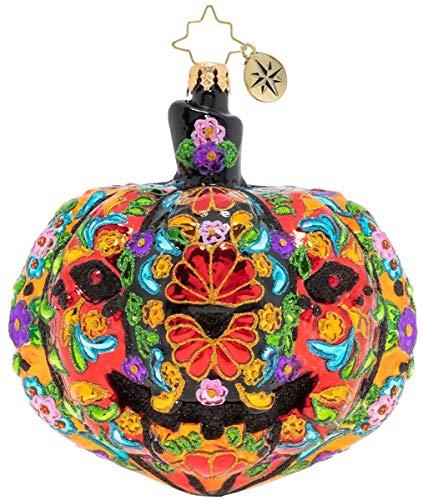 Christopher Radko Dia De Los Muertos Pumpkin Christmas Ornament