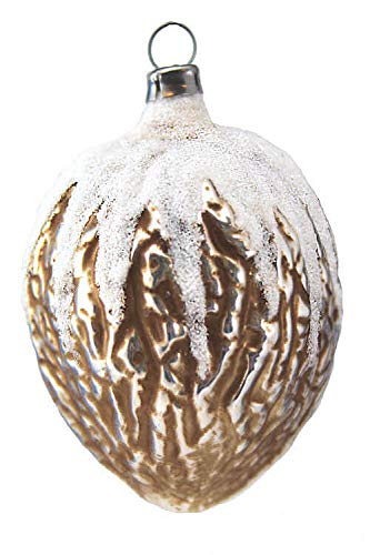 Marolin Walnut MA2011001A German Glass Ornament w/Gift Box