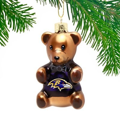 NFL Baltimore Ravens Teddy Bear Ornament