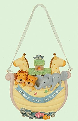 Midwest Baby's 1st Christmas Noah's Ark Ornament 4 Inches
