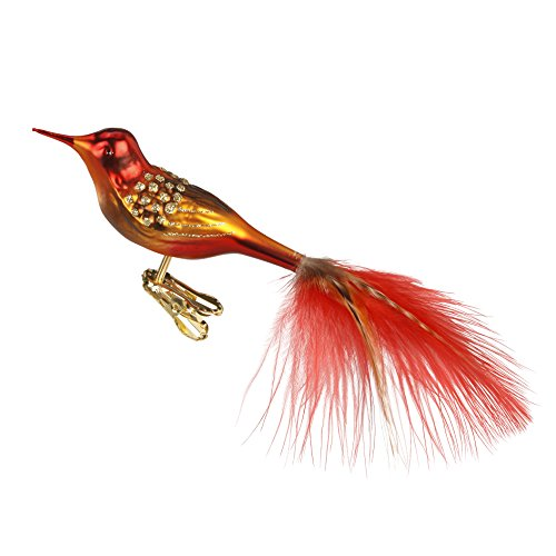 Inge-Glas Fairytale Singer Clip-On Bird 10210S015 German Blown Glass Christmas Ornament