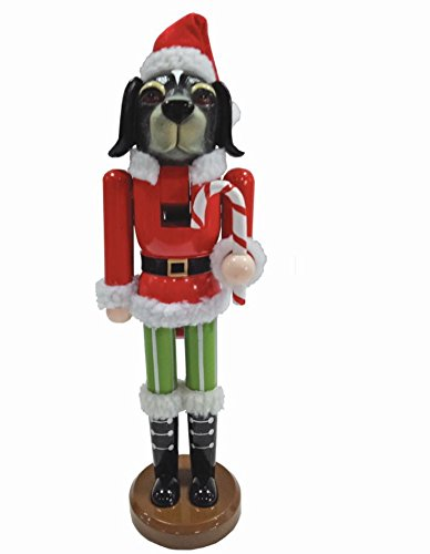 Santa's Workshop Christmas Dog Nutcracker, 14″ Tall, Red/Green