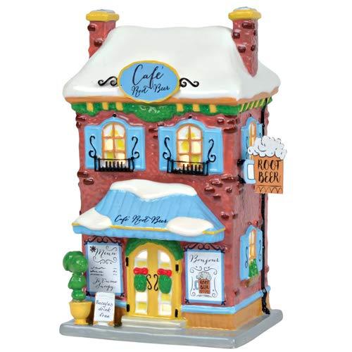 Department 56 Peanuts Village Snoopy's Root Beer Café Lit Building, 8.25″, Multicolor
