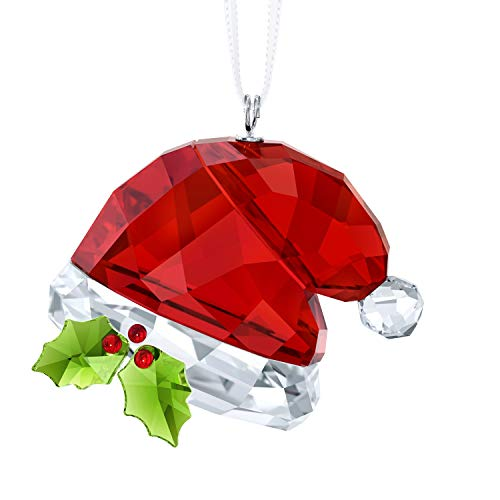 Swarovski Santa's Hat, Multi Colour Crystal Ornament 3.5 x 4 x 2.4 cm