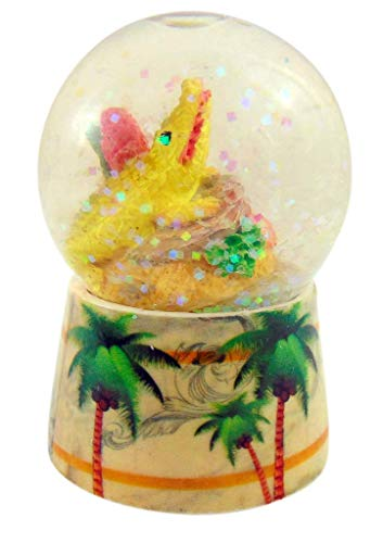 Westman Works Florida Alligator Snow Globe with Palm Tree Miniature Souvenir Gator Water Globe
