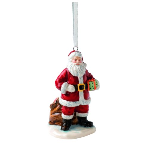 Royal Doulton Santa with Sack Ornament, 2″ by 1.7″ by 3.1″, Multicolor