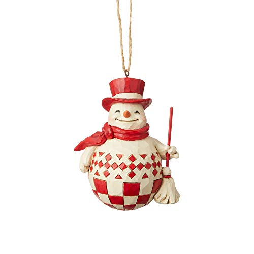Enesco Jim Shore Heartwood Creek Nordic Noel Snowman Ornament