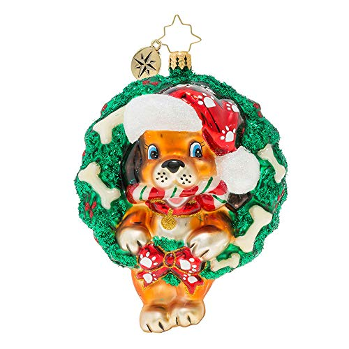 Christopher Radko Baby's First Puppy Love Christmas Ornament, Multicolored