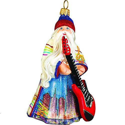 Joy to the World Glitterazzi Nashville Santa Ornament