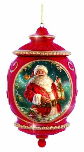 Precious Moments Santa with Lantern Ornament