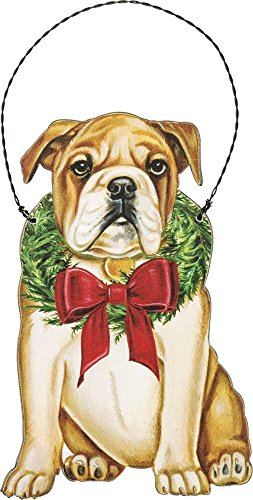 Primitives by Kathy Ornament – Christmas Bulldog Home Decor