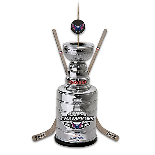 Bradford Exchange The NHL Licensed Washington Capitals 2018 Stanley Cup Champions Christmas Ornament