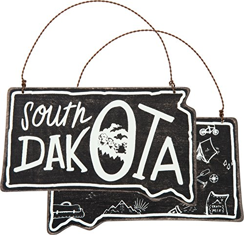 Primitives by Kathy South Dakota Ornament Small Hanging Sign