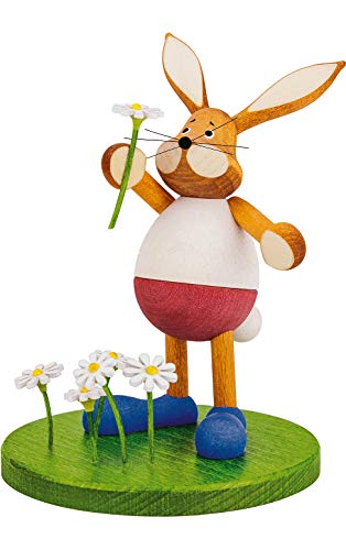 Alexander Taron 224-760 Dregeno Easter Figure-Rabbit Flower Field-5.5″ H W x 4″ D, Brown