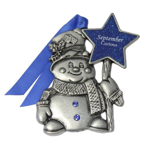 Gloria Duchin September Birthstone Snowman Ornament