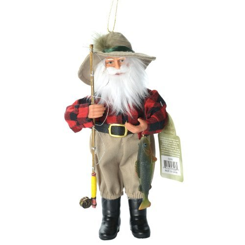 Santa's Workshop Fishing Santa Christmas Ornament by Santa's Workshop