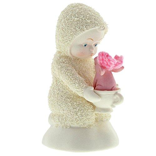 """Department 56 Snowbabies """"A Teacup Pig"""" Porcelain Figurine, 4″"""