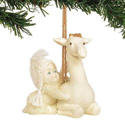Department 56 Snowbabies Peaceful Kingdom Giraffe Hanging Ornament, 2.625″, Multicolor