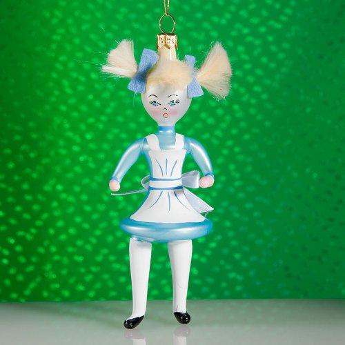 De Carlini Alice Italian Mouthblown Glass Christmas Ornament