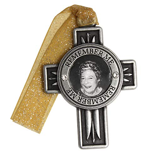 Gloria Duchin Pewter Remembrance Cross Christmas Ornament Multicolor