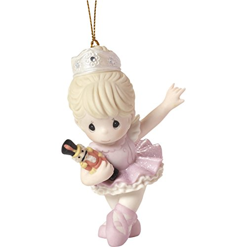 "Precious Moments""""Behold The Magic of Christmas Nutcracker Ballerina Ornament, 3.5 inches Height, Multicolor"