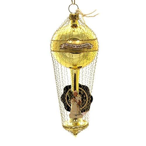 Marolin Balloon MIT WINTERKIND Glass Ornament Germany Viktorian 6001600