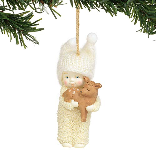 Department 56 Snowbabies Peaceful Kingdom Deer Hanging Ornament, 3″, Multicolor