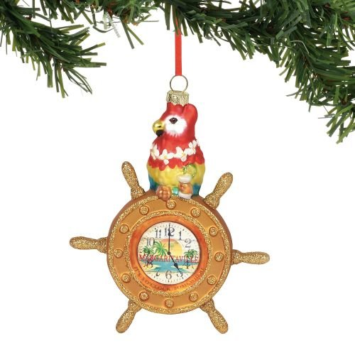 Department 56 Margaritaville Parrot at The Helm, 6″ Hanging Ornament, Multicolor