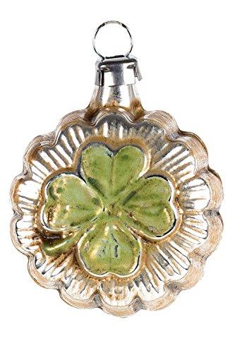 Marolin Mini Ornament Lucky Clover MA2011062 German Glass Ornament w/Gift Box