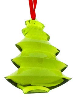 Baccarat Crystal Green Noel Christmas Tree Ornament