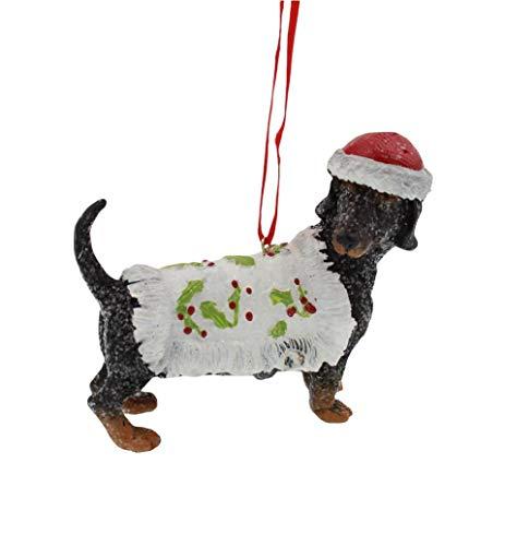 Raz Dachshund Festive Dog Ornament