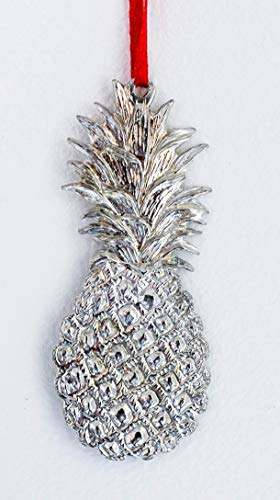 552 Southern Hospitality Pineapple Ornament Pewter