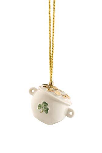Belleek Pot Of Gold Ornament
