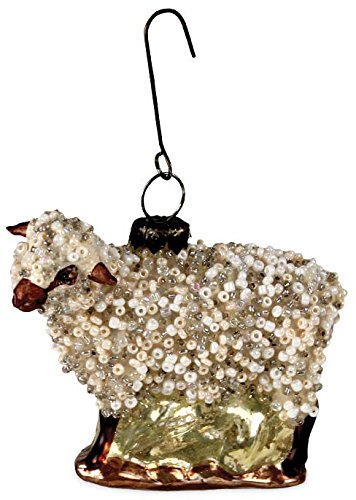 Bethany Lowe Vintage Style Glass Sheep Ornament