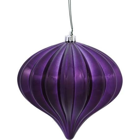 Vickerman 5.7″ Chocolate Shiny Onion Christmas Ornament UV Treated with Drilled and Wired Cap, 3 per bag