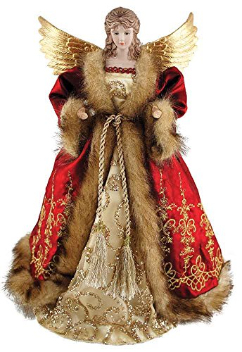 Santa's Workshop 16″ Red Imperial Angel Christmas Tree Topper