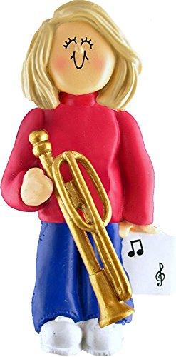 Music Treasures Co. Female Musician Trombone Ornament – Blonde