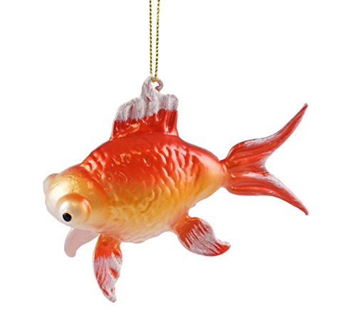Creative Co-op Oriental Goldfish Hanging Christmas Ornament