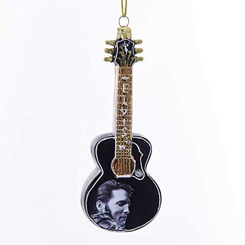 Kurt Adler 5″ Glass Elvis Guitar Ornament