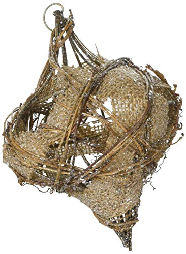 Department 56 Sparkle Rattan Finial Hanging Ornament 9.25″ Brown