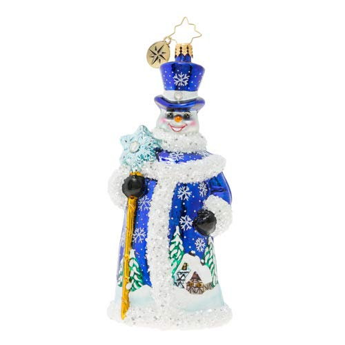 Christopher Radko Winter Wonderland Snowman Christmas Ornament