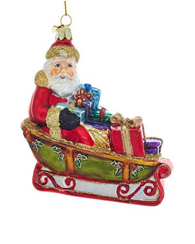 Kurt Adler Noble Gems Santa in Sleigh Ornament