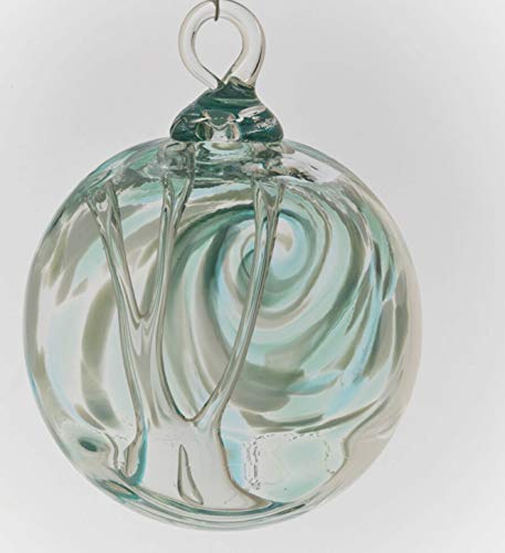 Glass Eye Studio Jade Angel Swing Spirit Ball Ornament
