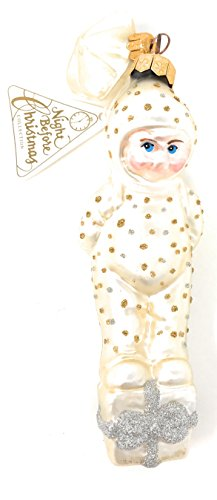 Snowbabies Dept 56 Night Before Christmas Ornament with Baby standing on present