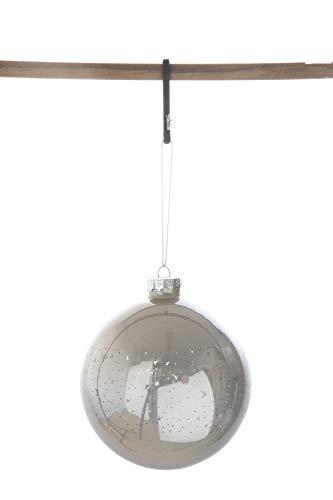 Creative Co-Op 4 Inch Glass Ball Ornament, Cream