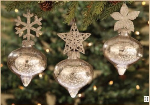 Bethany Lowe Designs Kismet Glass Christmas Ornament