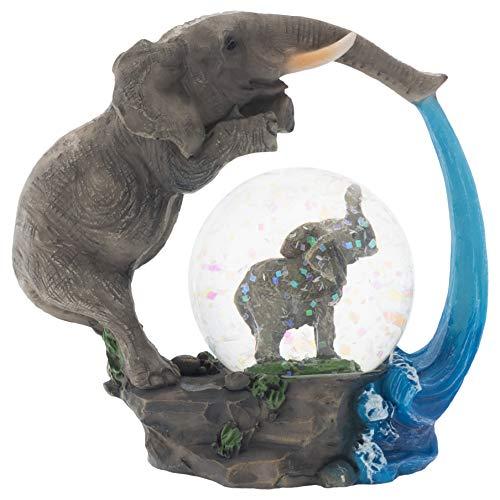 Elanze Designs Elephant Bath time Fun Figurine 45MM Glitter Water Globe Decoration