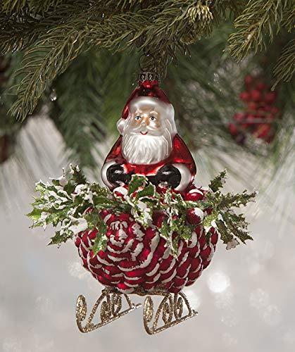 Bethany Lowe Santa's Pinecone Sleigh LC7136