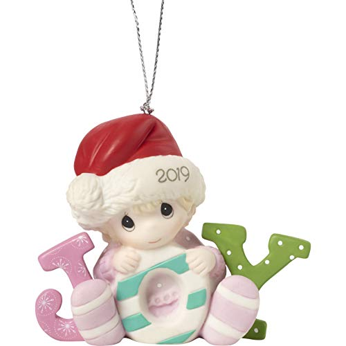 Precious Moments Baby's First Christmas 2019 Dated Bisque Porcelain Girl 191005 Ornament One Size Multi