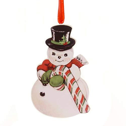 Holiday Ornaments Retro Christmas Dummy Board Reindeer Snowman Santa Rl6847 Snowman